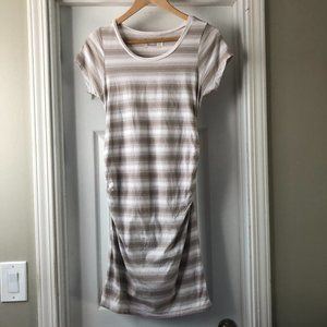 Striped Ruched Maternity Dress size Small